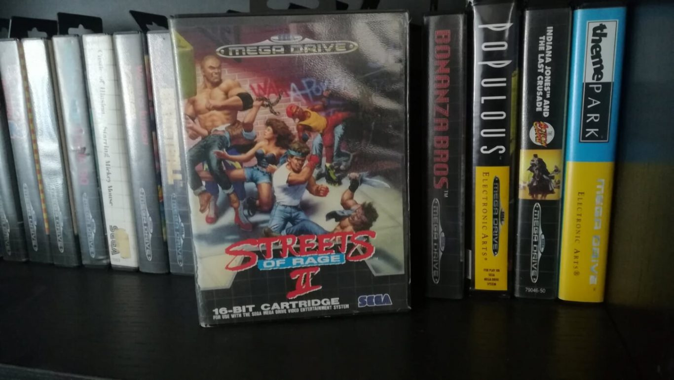 Streets of Rage 2 and some other Mega Drive games on shelf