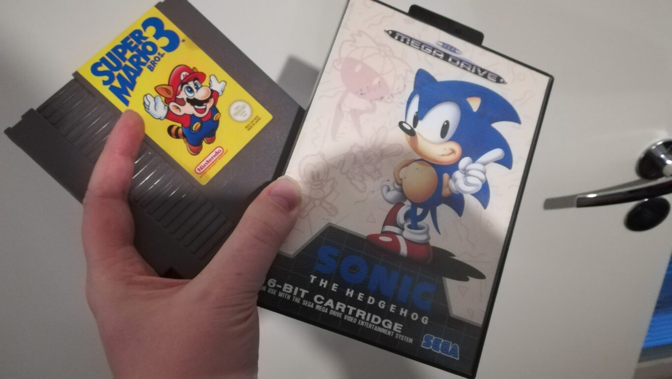 Super Mario Bros 3 and Sonic The Hedgehog games