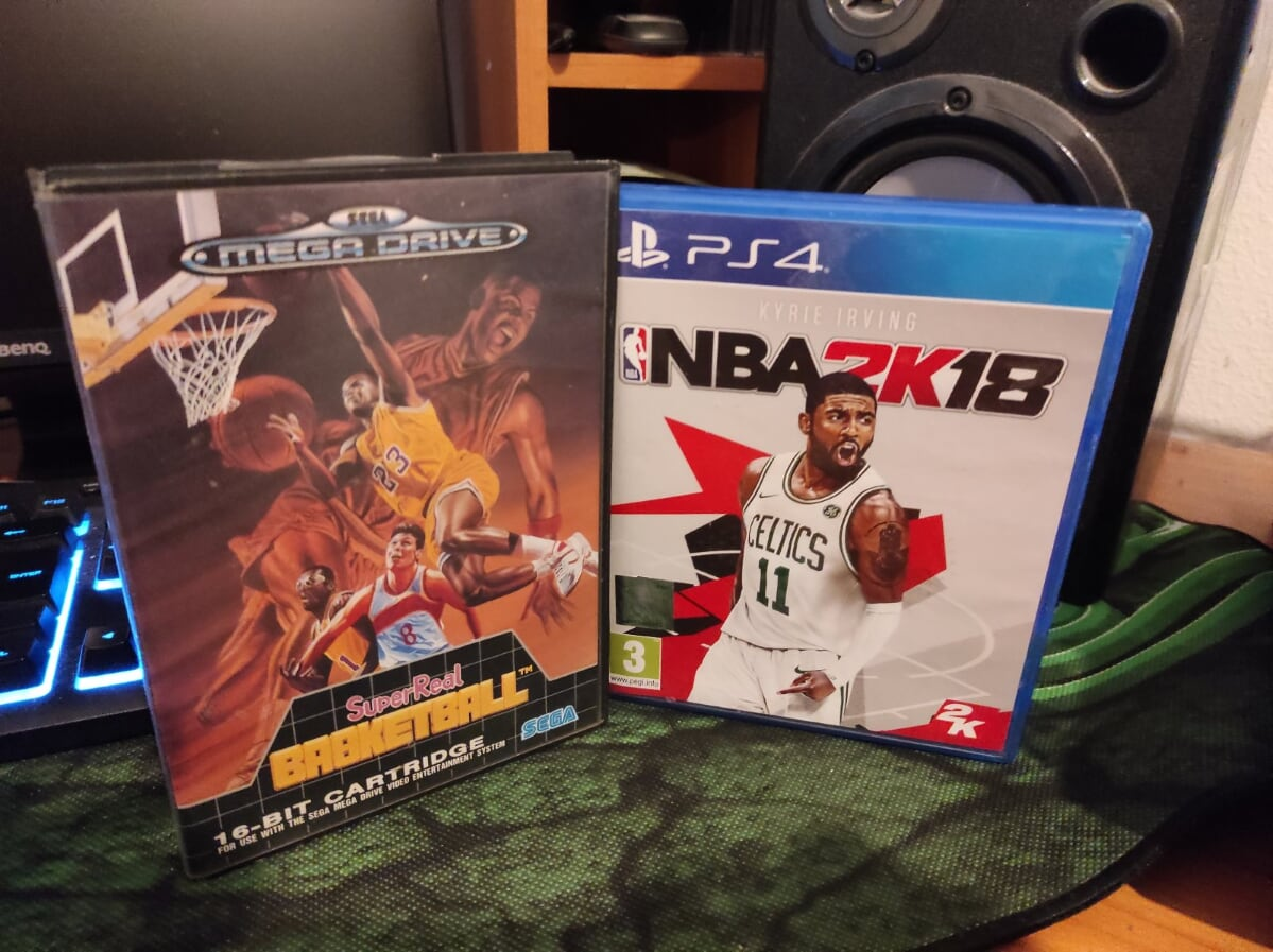 Super Real Basketball versus modern game NBA 2K18