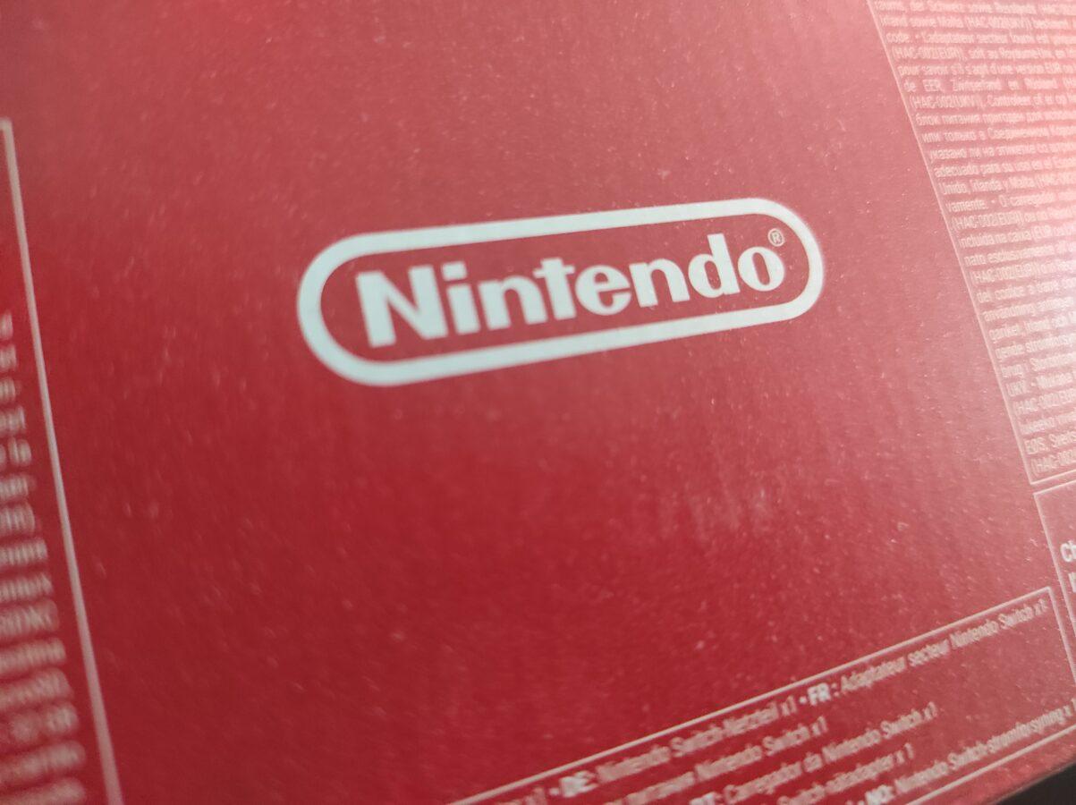 Nintendo logo from original Switch Lite package