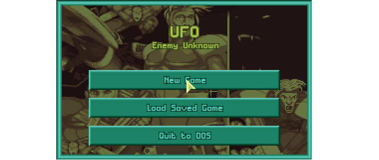 UFO Enemy Unknown start menu screenshot