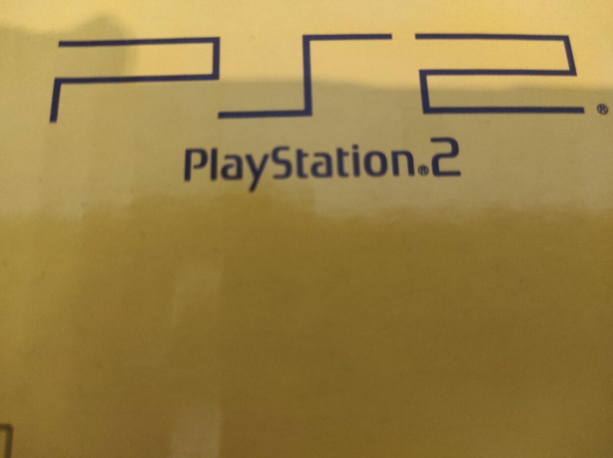 PlayStation 2 Slim model logo from original packaging